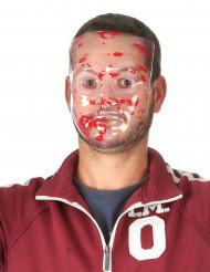 Blodig genomskinlig mask