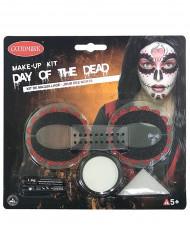 Dia de los muertos färgrik makeup set