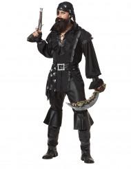 Svart pirat - utklädnad vuxen