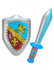 Uppblåsbara svärd och sköld