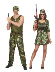 militärer pardräkt vuxen