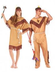 Ett snyggt par Indianer - Pardräkt Vuxna