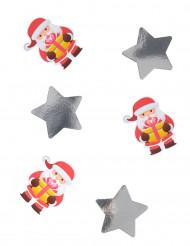 Jättekonfetti i form av julgubben 11 cm