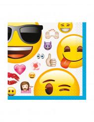 16 pappersservetter från märket Emoji™ 25,4 cm