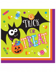 16 Trick or Treat Pappersservetter 33 cm