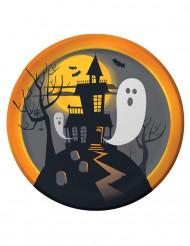 8 papperstallrikar med hemsökt herrgård 22 cm Halloween