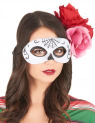 Mask Day of the Dead svart & vit vuxen