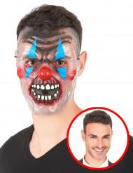 Genomskinlig mask läskig clown