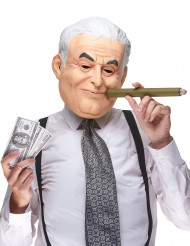 Humoristisk latexmask Dominique Strauss Kahn