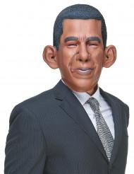 Humoristisk latexmask Barack för vuxna