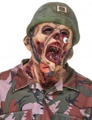 Latexmask zombiesoldat vuxen