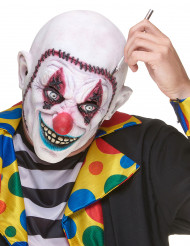 Latexmask clown med sydd skalle