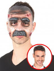 Genomskinlig mask man med mustasch
