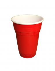 20 röda muggar i plast 250 ml