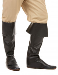Svarta skoöverdrag läderimitation