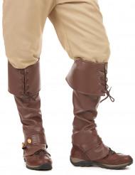 Bruna skoöverdrag md snörning