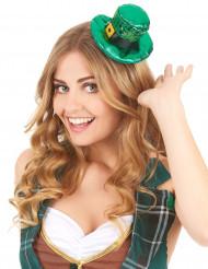 Grön minihatt med paljetter