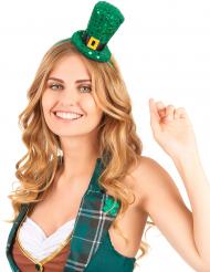 Hög hatt i miniformat med paljetter St Patrick