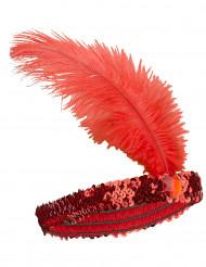 CharlestonPannbandmed fjäder röd