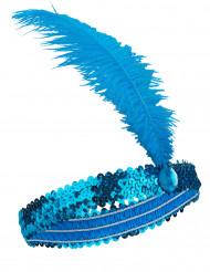 CharlestonPannbandmed fjäder blå
