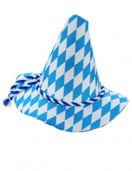 Bayersk hatt i blått och vit - Maskeradhattar för vuxna