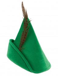 Grön hatt med fjäder