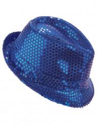 Paljetthatt blå