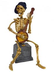 Spelande och sjungande skelett - Halloweenpynt med ljus och rörelse