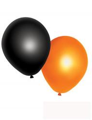 10 Orangea och svarta ballonger - Halloweendekoration