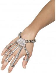 Skelettarmband med ringar Halloween vuxen