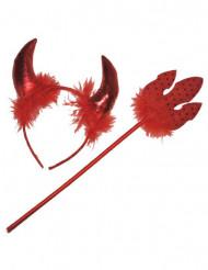 Djävul röd tillbehör