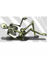 Dekoration skelet sofa 75x150 cm Halloween