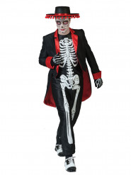 Día de los muertos skelett - utklädnad vuxen
