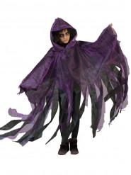 Mantel lila och svart Halloween barn