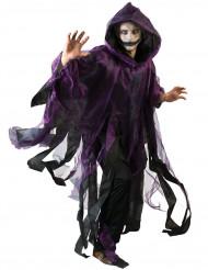 Mantel lila och svart Halloween vuxen