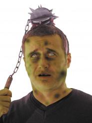 Blodig vapen genom huvudet