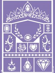 Schabloner för prinsess sminkning