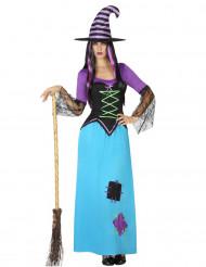 Blålila häxa - utklädnad vuxen Halloween