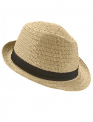 Borslino hatt med svart band vuxen