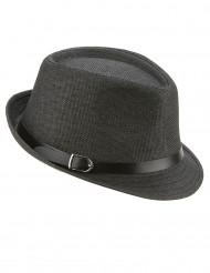 Grå borsalino hatt med spänne