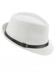 Vit borsalino hatt med spänne
