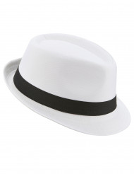 Vit borsalino hatt med svart band