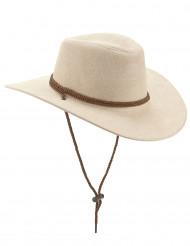 Cowboyhatt av beige suede