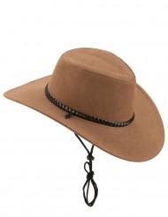 Brun cowboyhatt