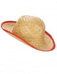 Cowboyhatt med röda kanter