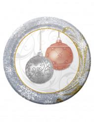 8 små eleganta tallrikar till jul
