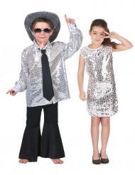 Silvrigt discopar i barnstorlek