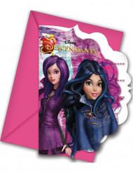 6 Descendants™ inbjudningskort med kuvert