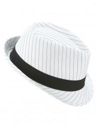 Borsalino svart vit randig