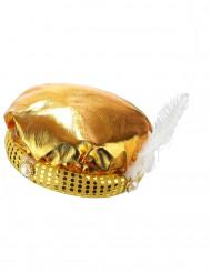 Guldfärgad sultanturban för vuxna